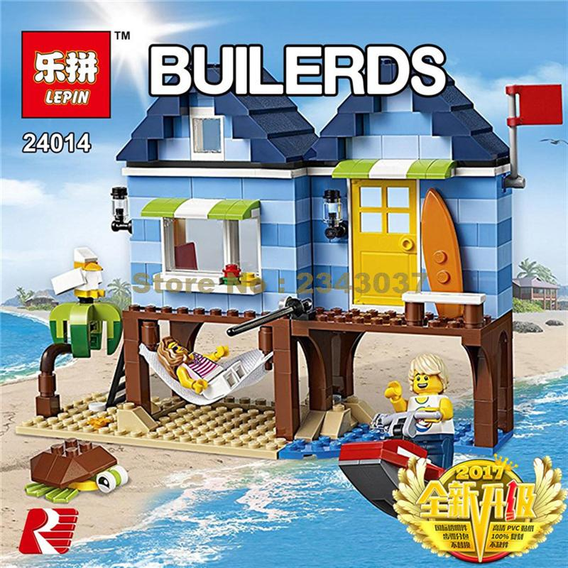 LEPIN City Creator 3 in 1 Beachside Vacation Building Blocks Bricks Kids Model Toys For Children Compatible with Lego gift kid lepin 02025 city the high speed racer transporter 60151 building blocks policeman toys for children compatible with lego