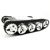 Rot5 WIFI RC Tank Mount Track Suspension System Aluminum Alloy Chassis Shock Absorption RC Track Chassis 2 DC Motors