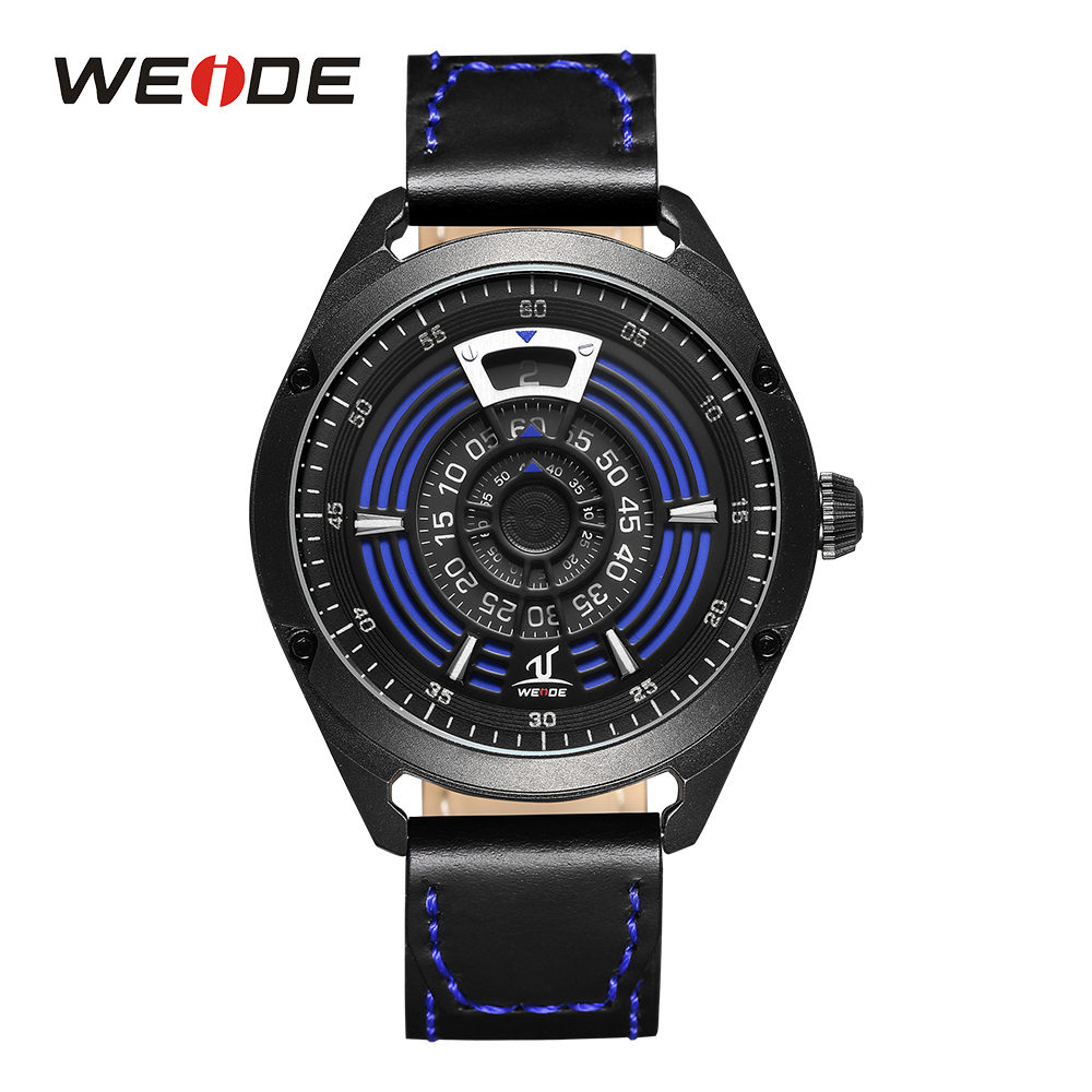 WEIDE Men's Sport Analog Digital Display Quartz Movement Watch Black Leather Band Strap Water Resist Luxury Wristwatch For Men goblin shark sport watch 3d logo dual movement waterproof full black analog silicone strap fashion men casual wristwatch sh165