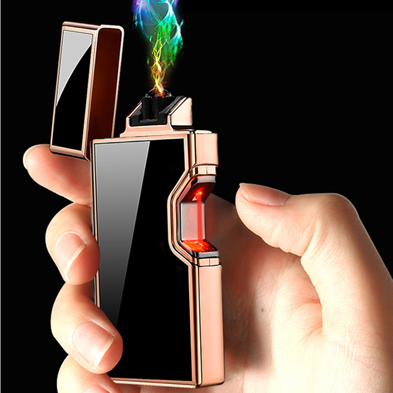 New USB Infrared Touch Sensor Metal Charging Lighter Four Colors