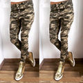 High Waist Slim Skinny Women Leggings Stretchy Pants Jeggings Military Camouflage Pencil Pants