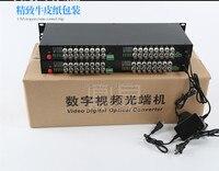 32 канала видео оптический преобразователь 19 дюймов 1U стойки 32CH 1D волоконно оптический видео оптический передатчик и приемник 32CH + 1RS485 данны