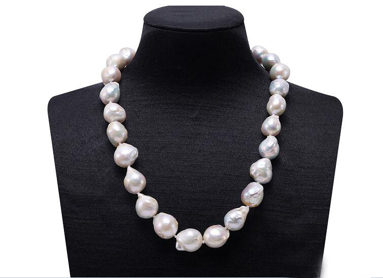 35-43cm 14-17 Women Jewelry AAA natural pearl 11-15mm bright white baroque freshwater pearl handmade necklace gift35-43cm 14-17 Women Jewelry AAA natural pearl 11-15mm bright white baroque freshwater pearl handmade necklace gift