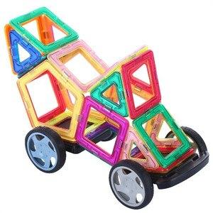 Image 3 - 47 129PCS Magnet Toy Building Blocks Magnetic Construction Sets Designer Kids education toddler Toys for children Christmas Gift
