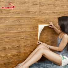 4 PCS 3D Wall Panels Brick Wooden Self adhesive Wallpaper, Bedroom Living Room Background Retro Home Decor Wall Stickers