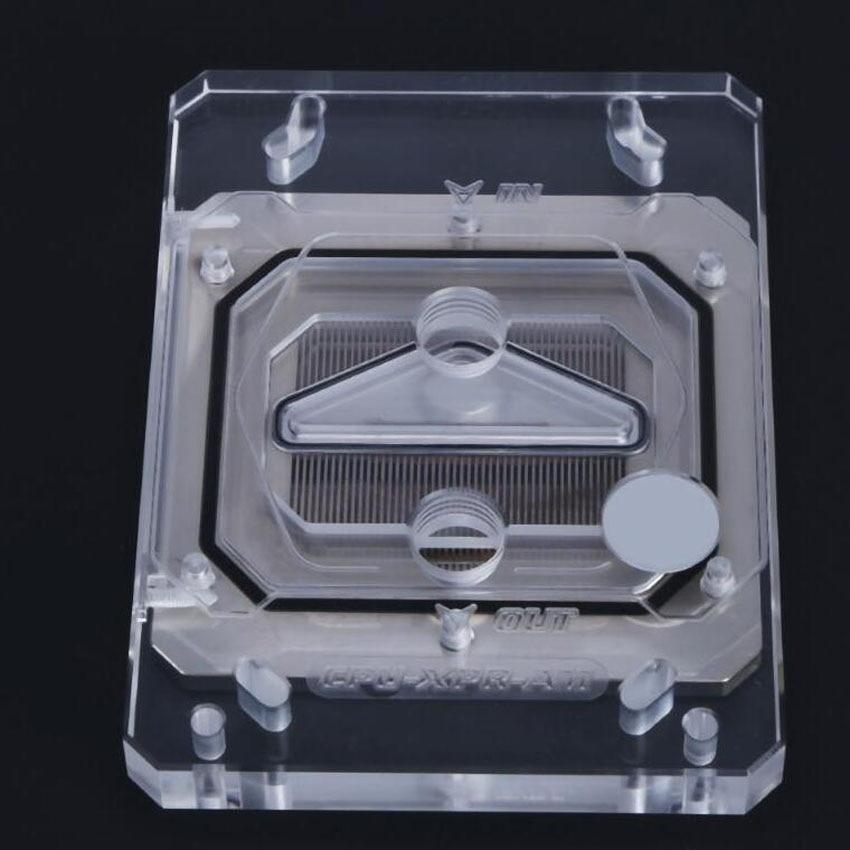 CPU-XPR-ZEN CPU Water Cooling Block with RGB LED Light Kits For AMD Ryzen AM4 AM3 Platform g1 4 water cooling waterblock fast heat dissipation cpu water cooling block with light for am3 am4 tr4