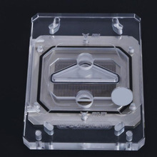 BY xpm transparent acrylic high performance jet cpu water cooling head ek hf