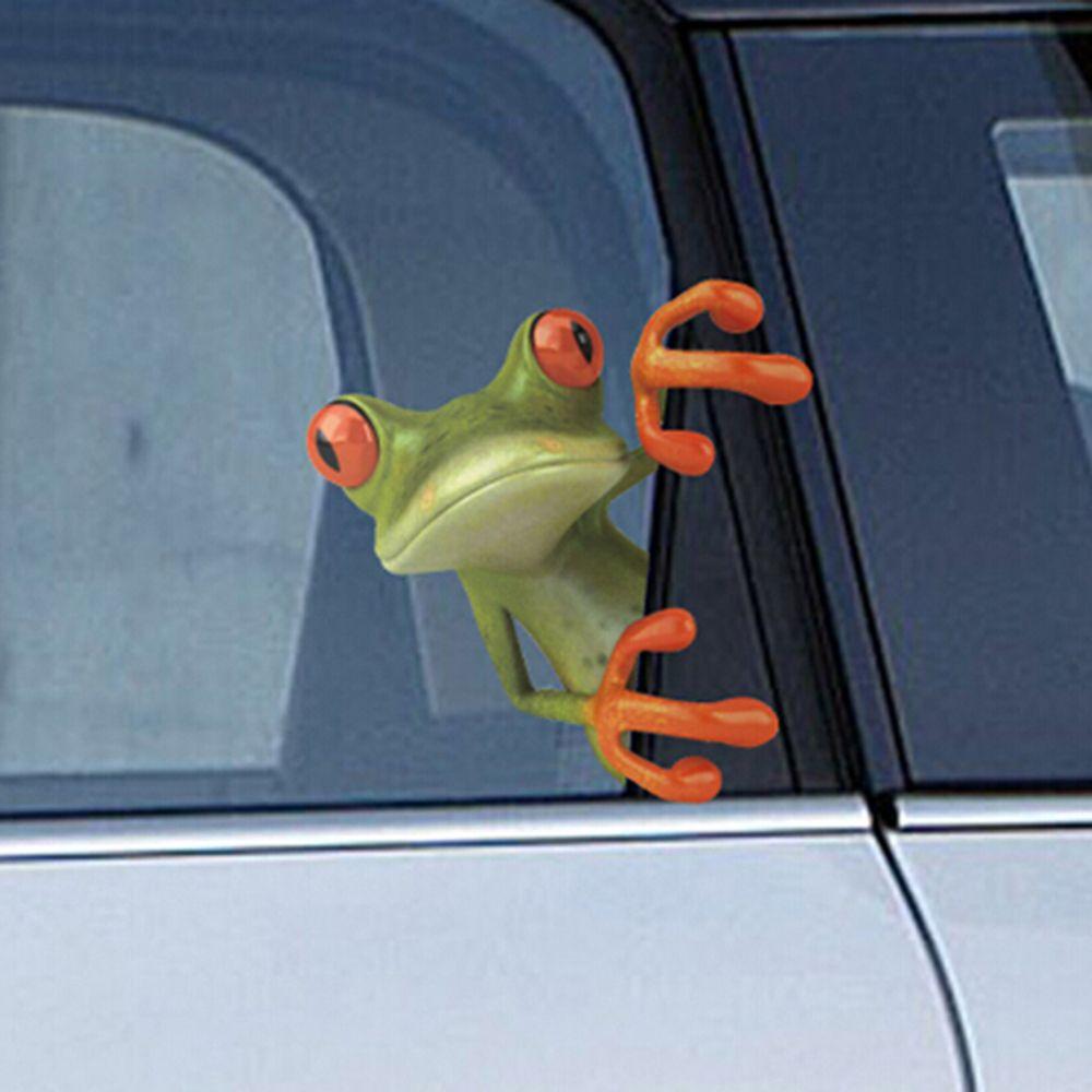 1PC Car SUV Window 3D Peep Frog Funny Decorative Vinyl Decal Graphics Sticker