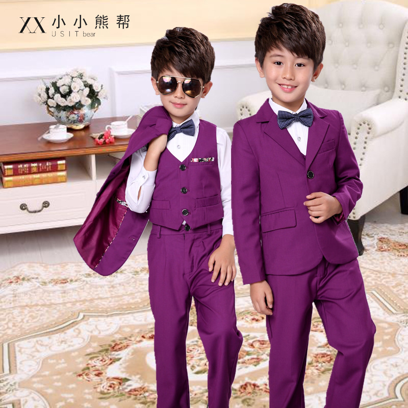 3 pieces Child suits High Quality Wedding boy suits Jacket pant vest kid Formal Dress School Student Party Costumes in Clothing Sets from Mother Kids