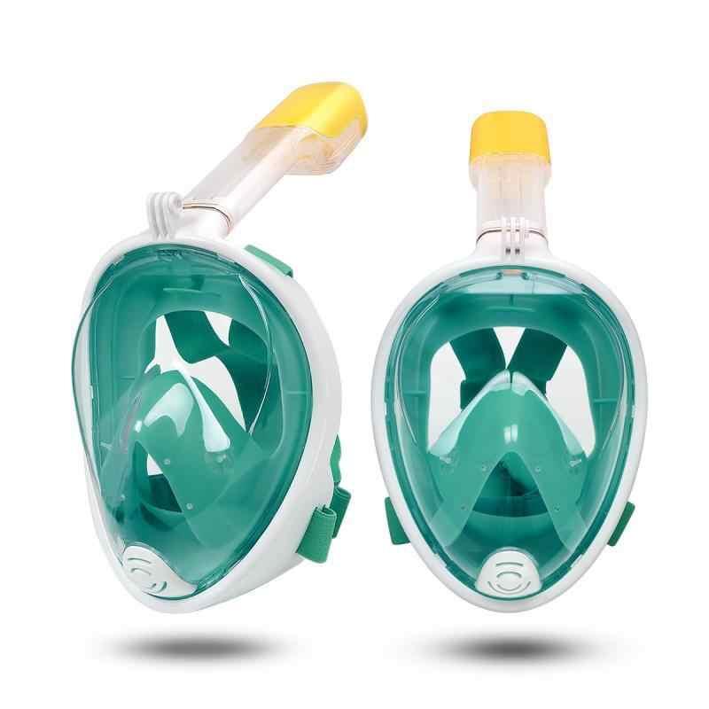 Volledige Gezicht zwemmen masker Panorama Anti-fog Anti-Lek Zwemmen Scuba Onderwater Duiken Masker GoPro Compatibel