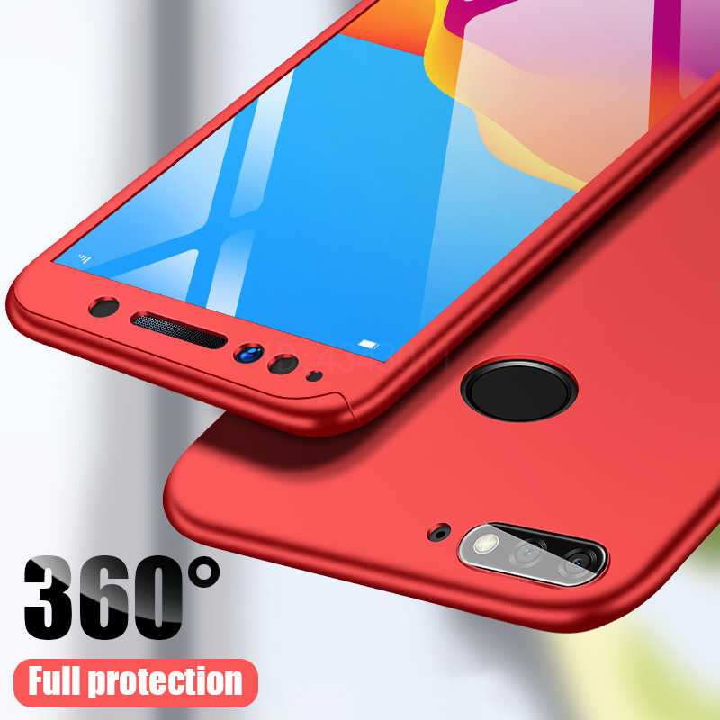 FlanaGan 360 Full Protective Phone Case For Huawei Y5 Y6 Y7 2018 2017 Cover For Huawei Y9 Y6 Y7 Prime 2019 2018 Cover Cases