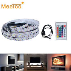 2835 USB LED Strip Light 5V Color Changing String Tape Ribbon Waterproof White/Warm RGB LED TV Backlight With Remote Controller