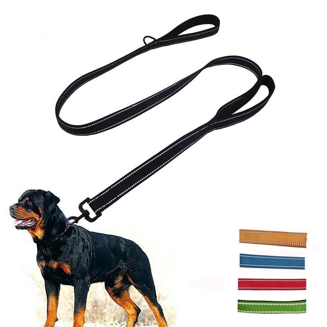 Guinzaglio del cane Doppio 2 Maniglie Guinzagli per Medium Large Cani Pitbull He