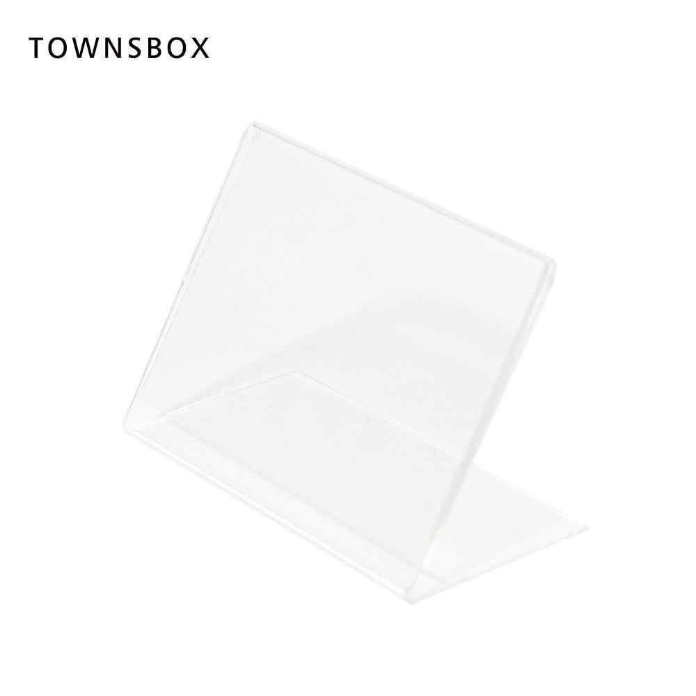 Acrylic Photo Frame Mini Paper Name Card Frame Slant Picture Frames Stand L Crystal Transparent Photo Holder Photo Display Stand