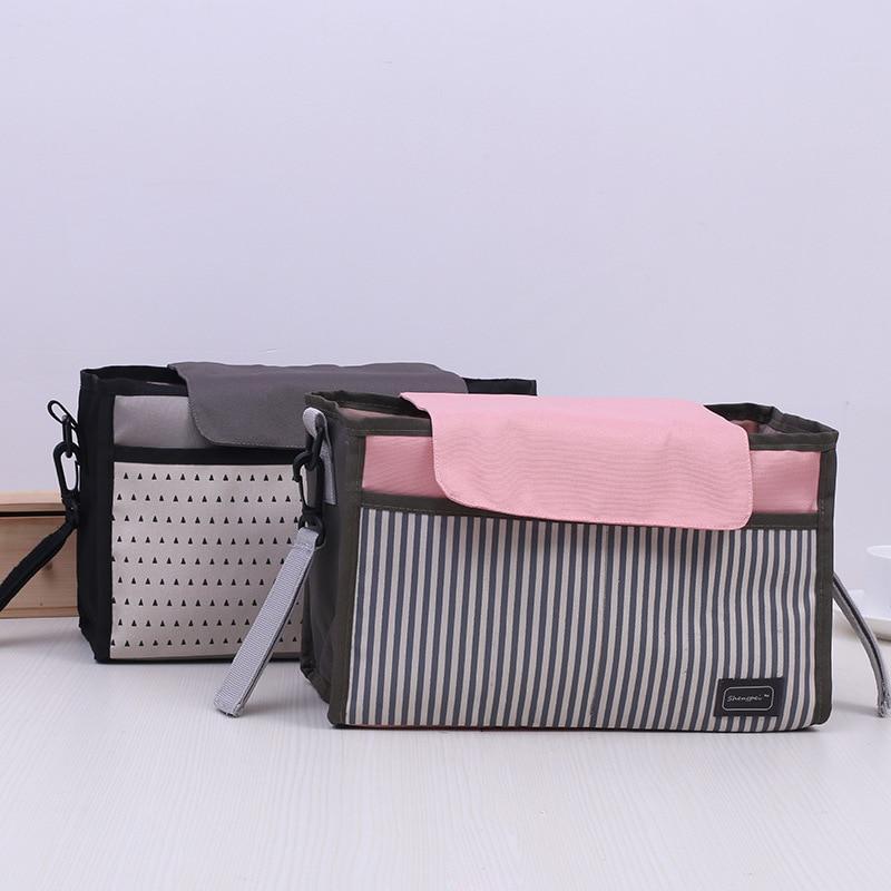 2 Warna Tas Popok Bayi Botol Susu Tas Penyimpanan Mumi Tas untuk Bayi Stuff Koleksi Stroller Aksesoris Perawatan Bayi