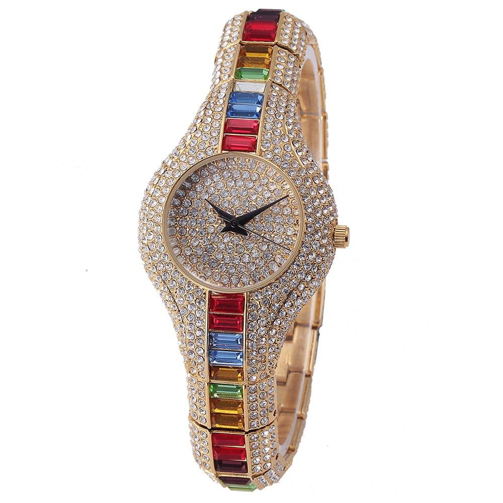 Top Brand Crystal Watch 2017 New Luxury Diamond Women' Gold Watches Lady Rhinestone Small Dial Clock High Quality  LZ2173
