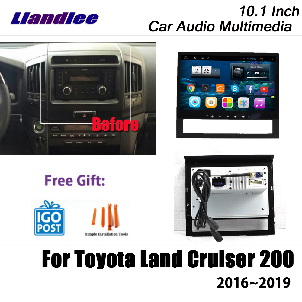 Liandlee 10.1 Inch Android For Toyota Land Cruiser 200 2016~2019 Stereo Radio Wifi Carplay Map GPS Navi Navigation Multimedia