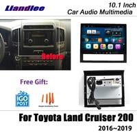 Liandlee 10.1 Inch Android For Toyota Land Cruiser 200 2016~2019 Stereo Radio Wifi Carplay Map GPS Navi Navigation Multimedia