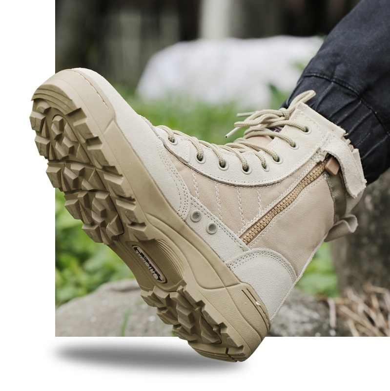 2018 novo tamanho grande eur 37--45 homens botas de combate sapatos masculino táticas botas deserto sapatos camuflagem militar botas táticas