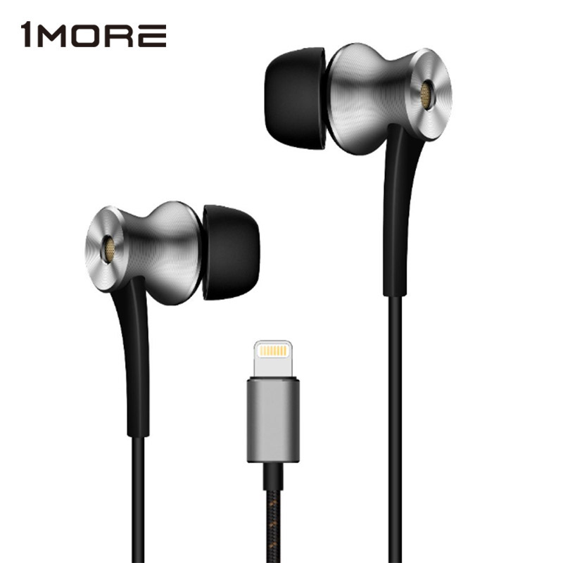 1MORE Dual Driver Active Noise Cancelling (ANC) In-Ear Earphones for Lightning Connection for iPhone 7 8, iPhone X , iPad , iPod 1more e1004 dual driver anc noise canceling in ear headphones lightning