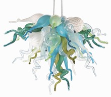 Hand Made Blown Glass Chandelier Light Home Villa Art Decoration LED Chandelier Lamps Small Size Cheap Price