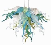 Hand Made Blown Glass Chandelier Light Small Cheap Villa Art Decoration LED for Home Decor