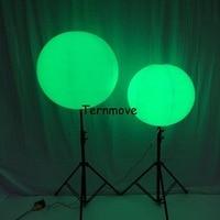 מוט עומד מואר בלון, צבעוני LED חיצוני פרסום חצובה מוט led תאורה מתנפח אוויר עומד בלון