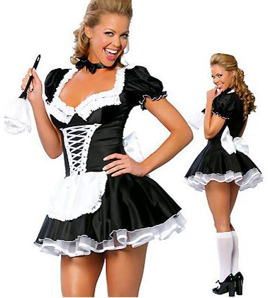S-3XL,4XL,5XL,6XL,7XLPlus Late Nite French Maid Costume