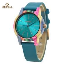 BEWELL Lightweight Comfort Bamboo Women Watch relogio feminino Colorful Light Weight Watches Genuine ZS-139A
