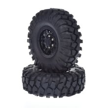 4pcs RC Crawler 1.9'' Beadlock Wheels with Tires for 1/10 Tamiya RC4WD Axial SCX10 CC01 D90 4pcs 1 10 rc rock crawler 2 2 rubber tyre wheel tires for axial scx10 tamiya cc01 rc4wd d90 rc climbing car parts