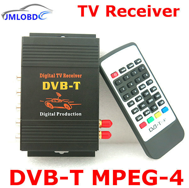 Car DVB-T MPEG-4 Dual Tuner 140-200KM/H DVB T SD Car Digital TV Tuner Receiver for Europe Middle East Australia hot digital car tv tuner dvb t2 car tv receiver hdmi 1080p cvbs dvb t2 support h 264 mpeg4 hd tv receiver for car free shipping