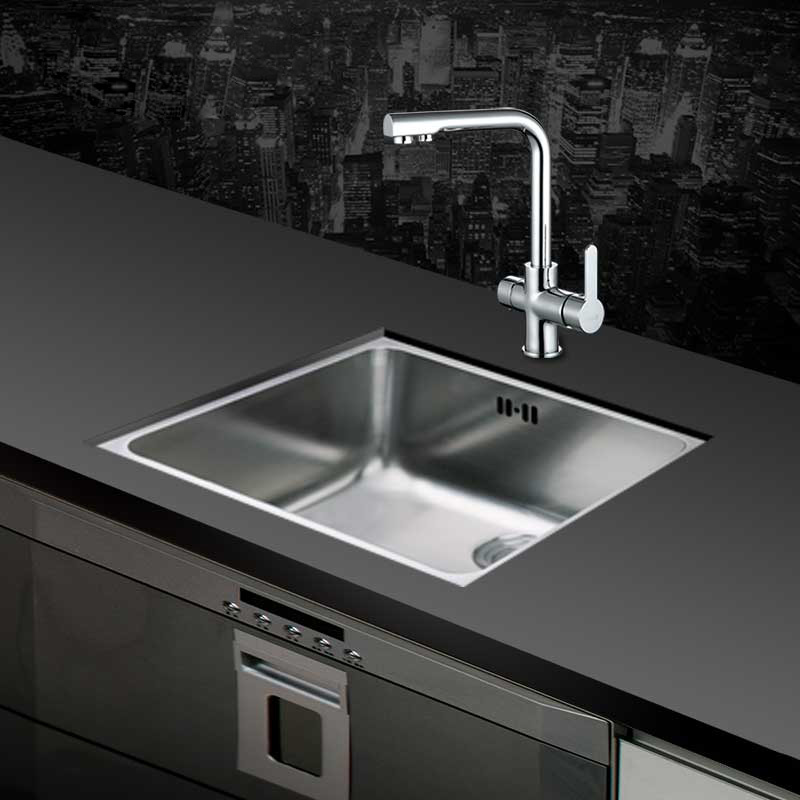 One of the 304 stainless steel materials, stretch square thickening kitchen sink, single trough washing dishesOne of the 304 stainless steel materials, stretch square thickening kitchen sink, single trough washing dishes