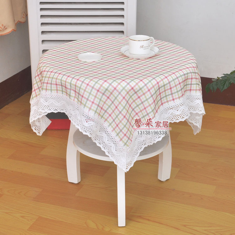 2016 New Plaid Lace Table Cloth Sofa Table Cover Home Party Coffee Table  Cloth Hotel Restaurant