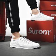 83ec8668d SUROM الصيف أحذية أنيقة الرجال 2019 جديد صغيرة حذاء أبيض الرجال البرية  عارضة شبكة الأحذية مع تنفس عدم الانزلاق أحذية رياضية