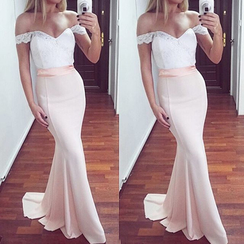 Glamorous Sweetheart Mermaid Bridesmaid Dresses Simple Lace frican Bridal Prom Dress Party Gowns Maid Of Honor Dress