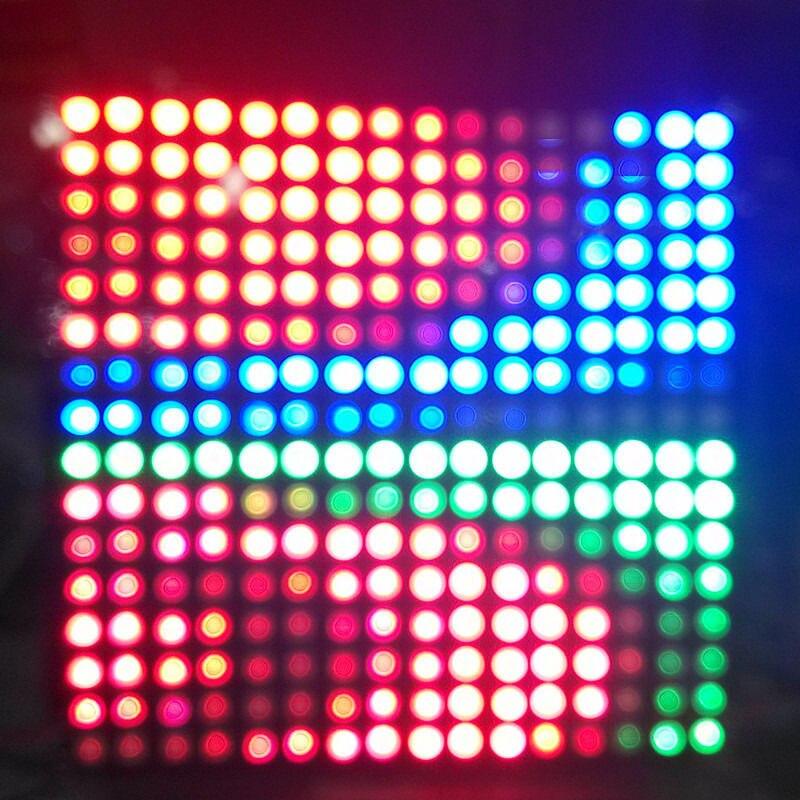 ФОТО DC5V 16*16 LED Pixel WS2812B led chip RGB Full Color Panel Digital Flexible Individually addressable RGB Light DIY Display Board