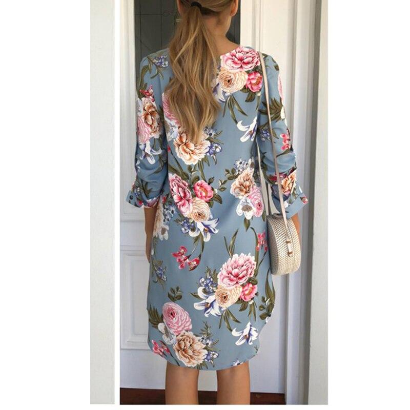 Women Blouse Shirt Print Flower Short Sleeve Blouses 1
