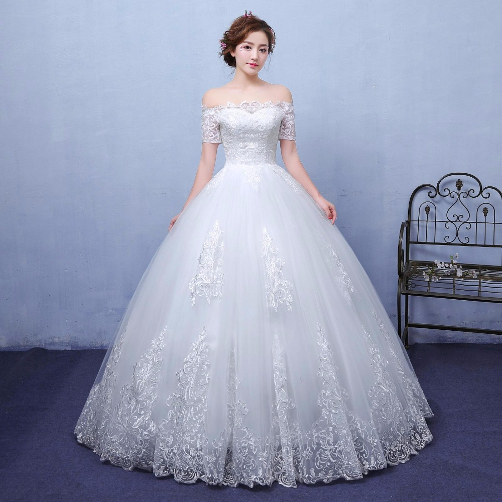 Beauty Emily Exquisite Korean bride Ball Gown Quality embroidery organza  andtulle Wedding Dresses 20 Customized wedding dress