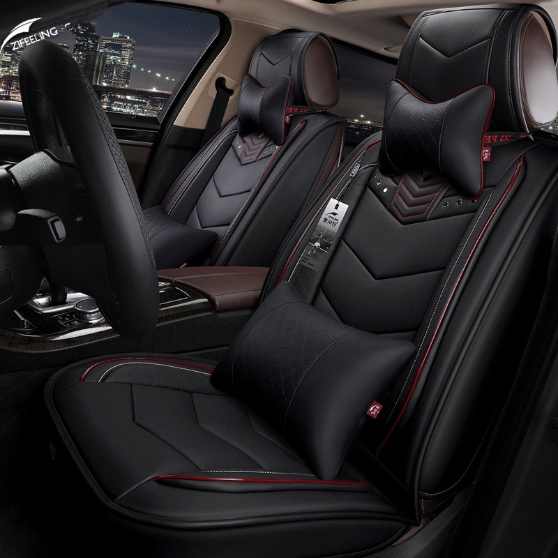 Luxury Leather car Seat Cover Four seasons car leather seat cover 5 seat For Porsche Cayenne
