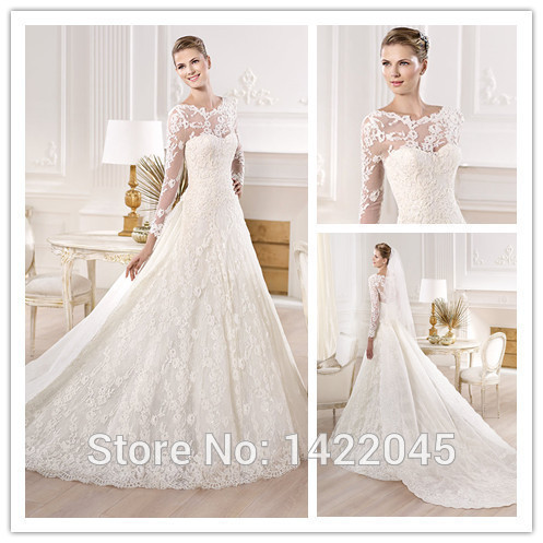 Vestidos de novia con cola larga desmontable