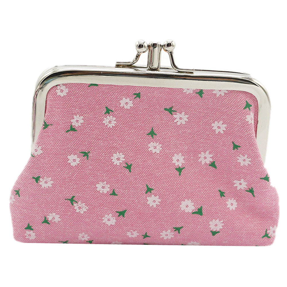 Womens Cotton Fabric Floral Mini Coin Purse Printing Flowers Hasp Wallet Card Holder Clutch Key Change Handbag bolsa feminina canvasartisan brand womens change coin purse wallet clutch holder vintage floral cotton canvas female small purses phone pockets