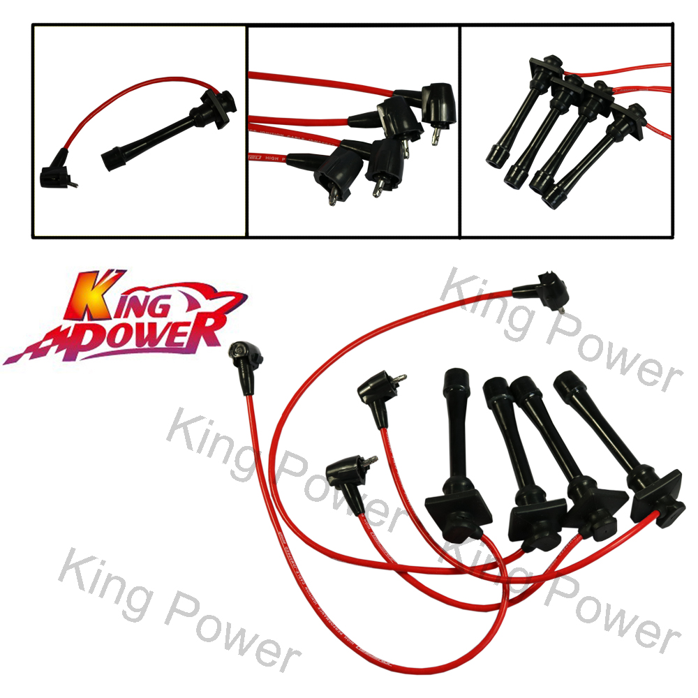 Plug-Wires-Set Spark Celica Corolla Toyota For 1993-1997 Geo Prizm Kp-Free