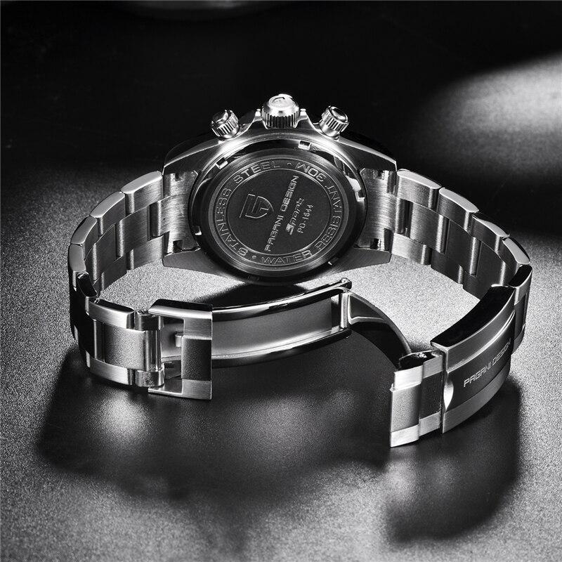 PAGANI DESIGN 2019 nouveau hommes montres Sport Quartz montre hommes en acier étanche horloge mâle mode chronographe Relogio Masculino - 5