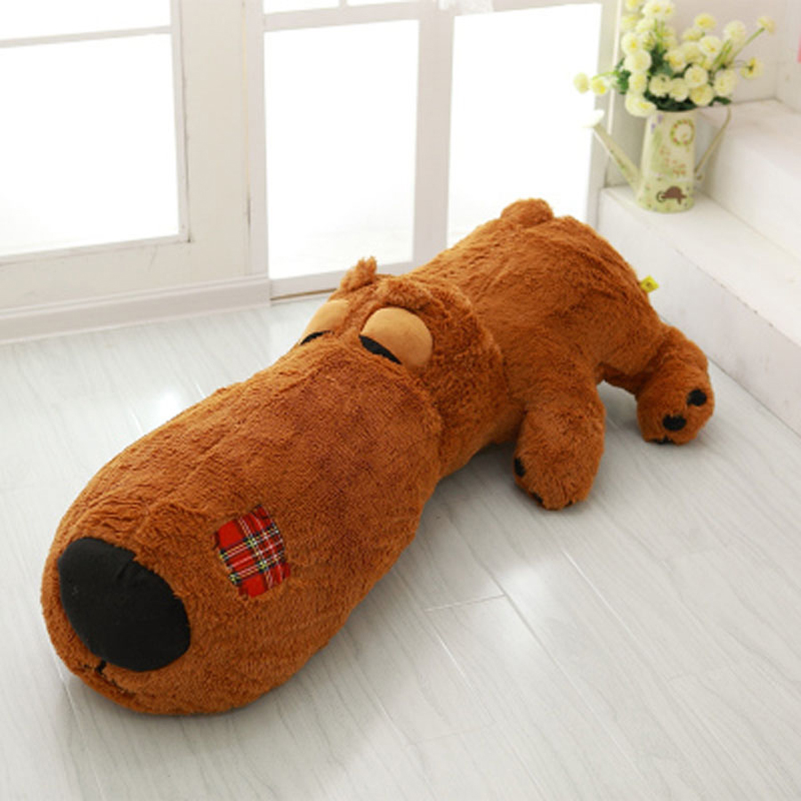 Cartoon Soft Toys Giant Stuffed Plush Animals Dog Dolls Peluches Grandes Cute Pillow Chien En Peluche Toys For Children 60G0375 2018 huge giant plush bed kawaii bear pillow stuffed monkey frog toys frog peluche gigante peluches de animales gigantes 50t0424