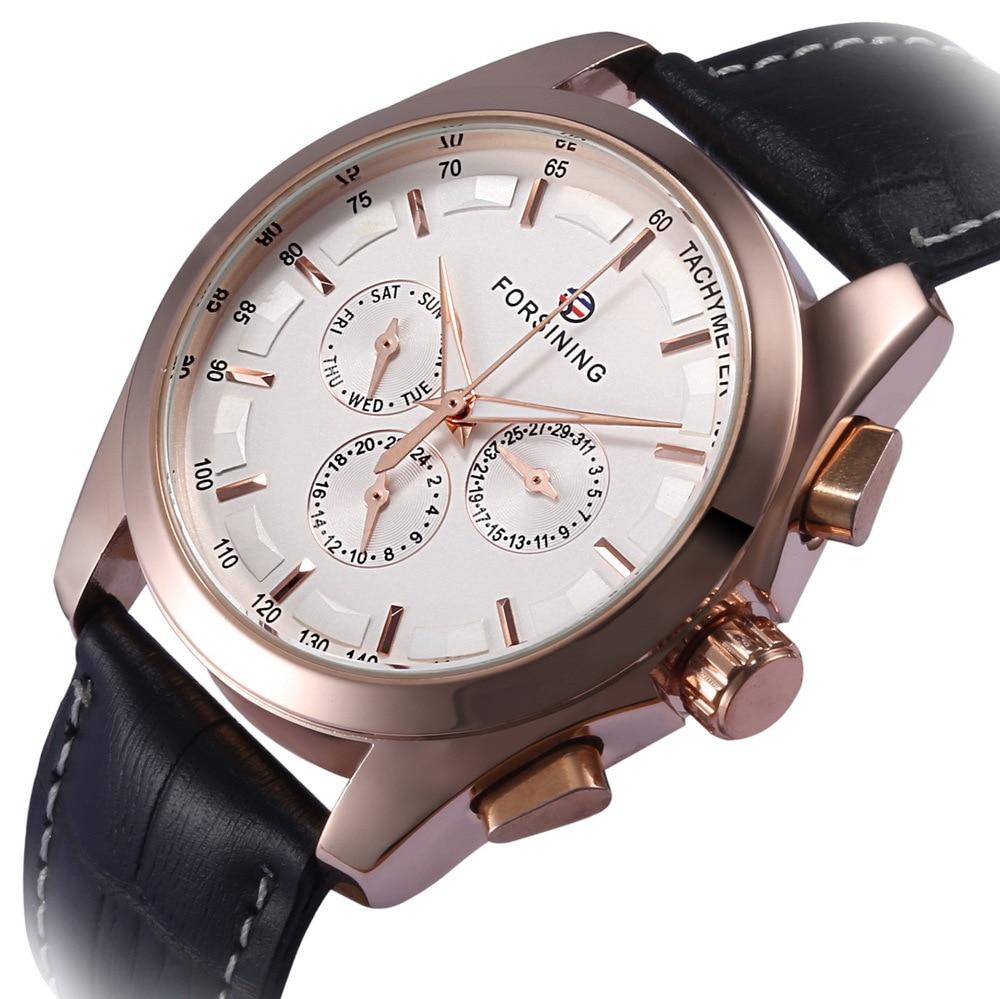 Free Shipping Forsining Mechanical Watch Luxury Men Rose