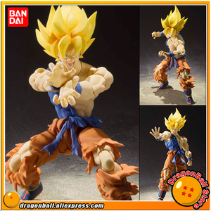 """Dragon Ball Z"" Original BANDAI Tamashii Nations SHF/ S.H.Figuarts Action Figure - Super Saiyan Son Goku Warrior Awakening Ver.(China)"