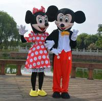Adult Size High Quality minnie Costume Mascot Fancy Costume Christmas Cosplay Mickey Minnie Carnival Costume Two Pcs