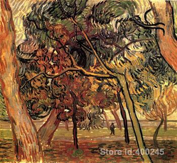 Study of Pine Trees by Vincent Van Gogh Oil painting reproduction home decor Hand painted High quality