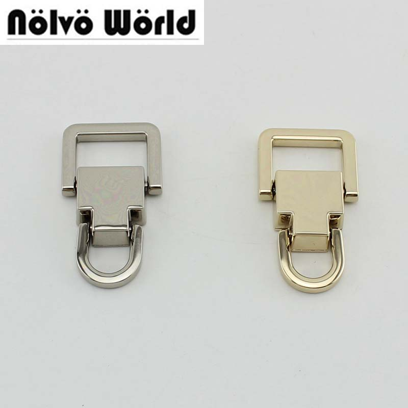 10-30pcs Silver Tone Detachable Top Handle 2 Ring Buckles ,bags Purse Top Handle Connect Hanger