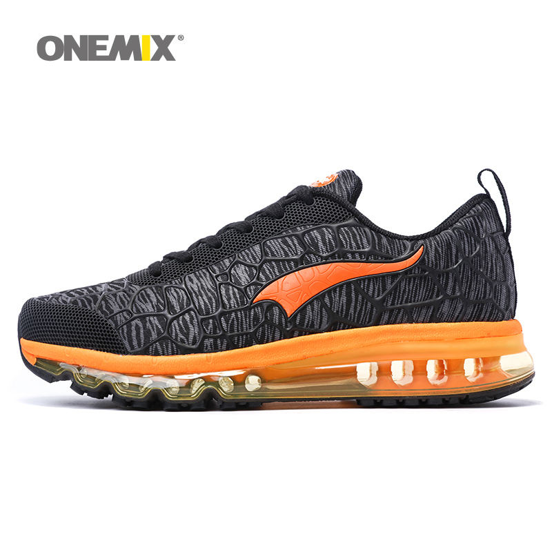 ONEMIX Man Running Shoes For Men Nice Run Athletic Trainers Black Zapatillas Sports Shoe Max Cushion Outdoor Walking Sneakers 2017brand sport mesh men running shoes athletic sneakers air breath increased within zapatillas deportivas trainers couple shoes